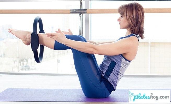 ejercicios abdominales con aro de pilates