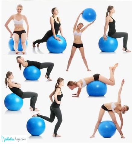 ejercicios con balon de pilates