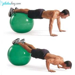 ejercicios con pelota de pilates para abdomen