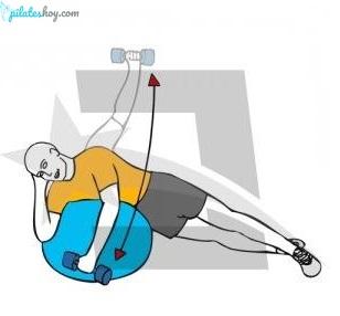 ejercicios pilates suelo pelota pequeña