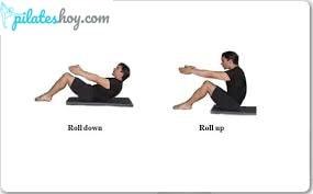roll down pilates ejercicio