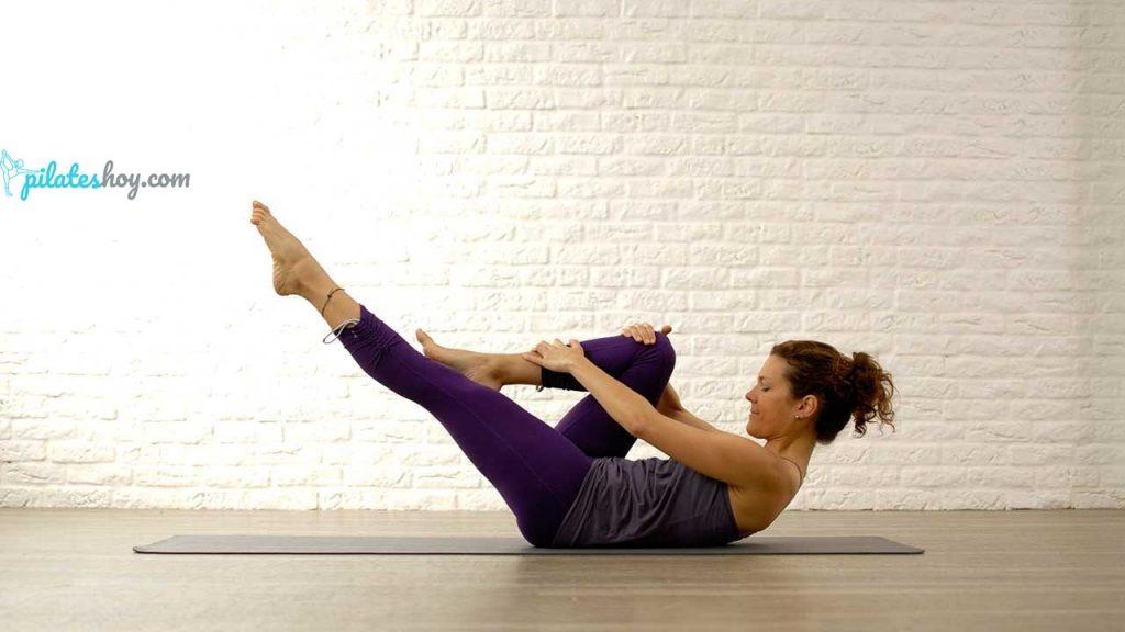 single straight leg stretch pilates
