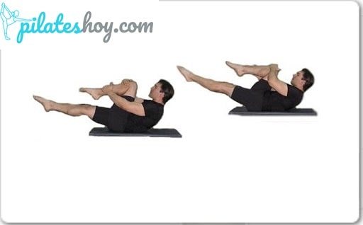 single leg stretch pilates español