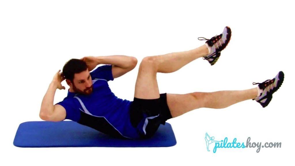 criss cross pilates ejercicio