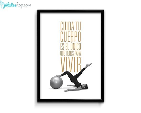 poster pilates ejercicios